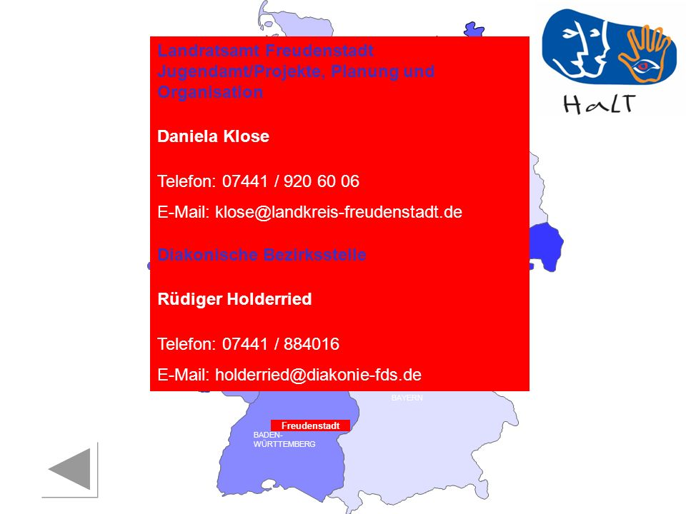 Landratsamt Freudenstadt Jugendamt/Projekte, Planung und Organisation