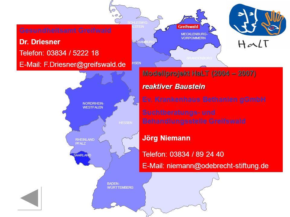 Gesundheitsamt Greifwald Dr. Driesner Telefon: 03834 / 5222 18