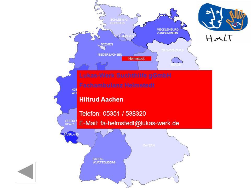 Lukas-Werk Suchthilfe gGmbH Fachambulanz Helmstedt Hiltrud Aachen