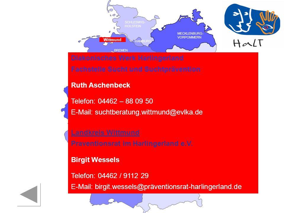 Diakonisches Werk Harlingerland Fachstelle Sucht und Suchtprävention
