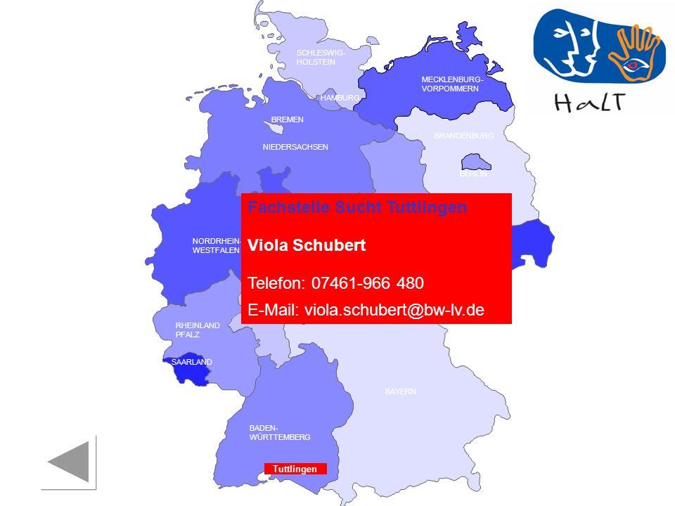 Fachstelle Sucht Tuttlingen Viola Schubert Telefon: 07461-966 480