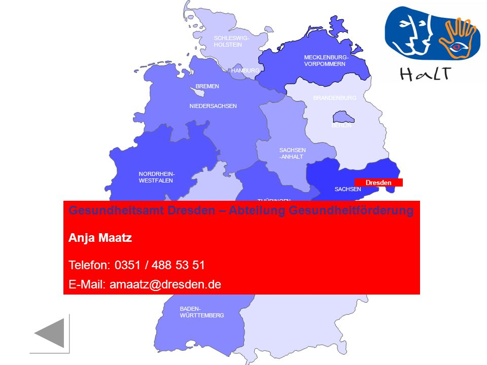 Gesundheitsamt Dresden – Abteilung Gesundheitförderung Anja Maatz
