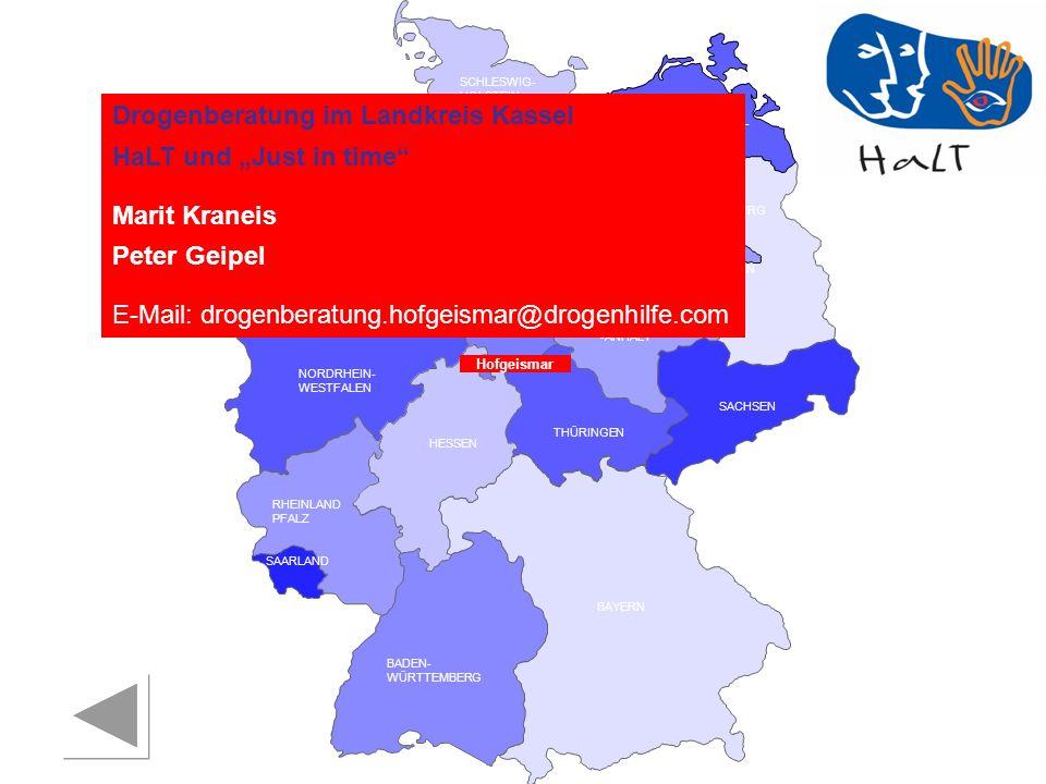 """Drogenberatung im Landkreis Kassel HaLT und """"Just in time"""