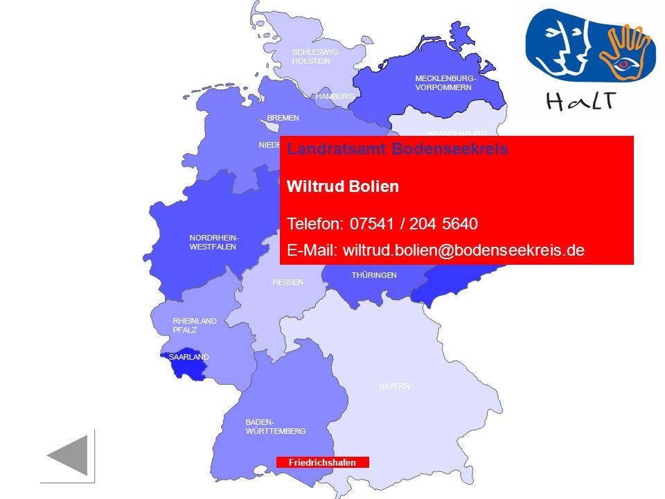 Landratsamt Bodenseekreis Wiltrud Bolien Telefon: 07541 / 204 5640