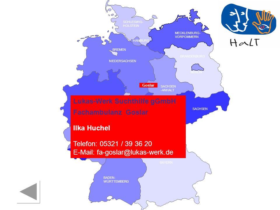 Lukas-Werk Suchthilfe gGmbH Fachambulanz Goslar Ilka Huchel