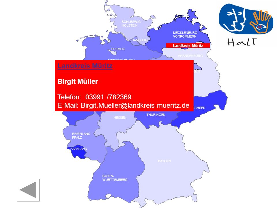 Telefon: 03991 /782369 E-Mail: Birgit.Mueller@landkreis-mueritz.de