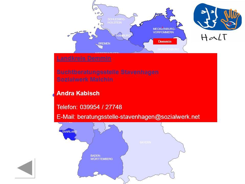Suchtberatungsstelle Stavenhagen Sozialwerk Malchin