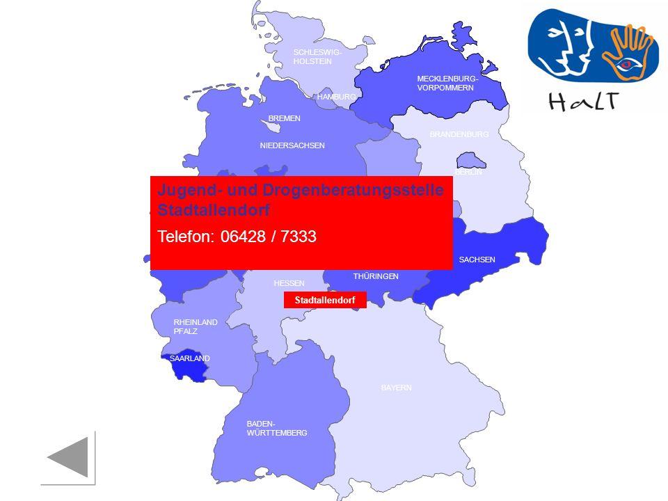 Jugend- und Drogenberatungsstelle Stadtallendorf Telefon: 06428 / 7333