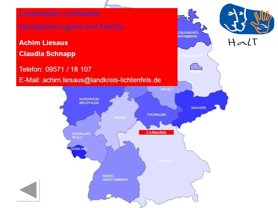 Landratsamt Lichtenfels Sachgebiet Jugend und Familie Achim Liesaus