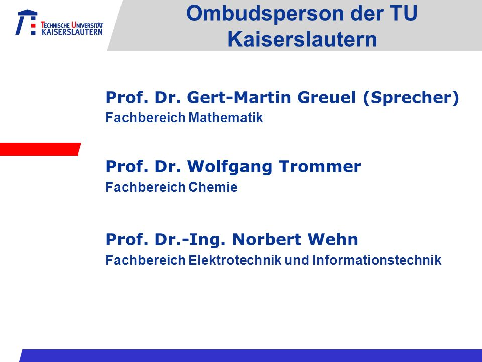 Ombudsperson der TU Kaiserslautern