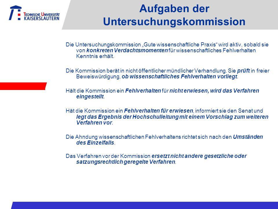 Aufgaben der Untersuchungskommission