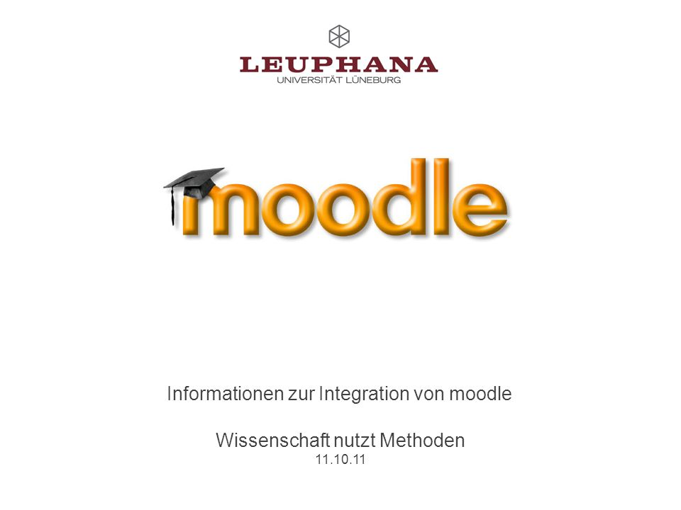 Informationen zur Integration von moodle