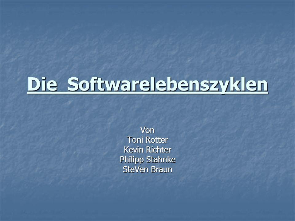 Die Softwarelebenszyklen