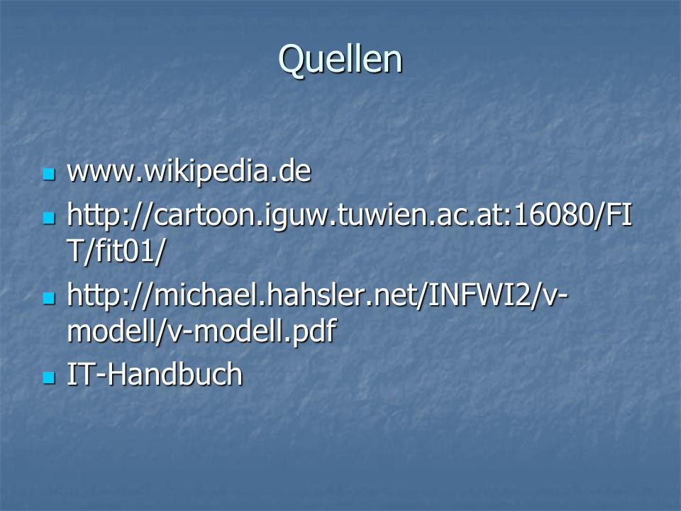Quellen www.wikipedia.de