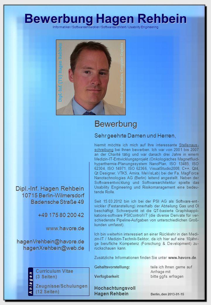 Bewerbung Hagen Rehbein