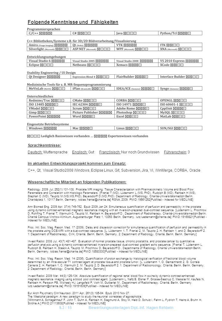 S.3 / 15 Bewerbungsunterlagen Dipl.-Inf. Hagen Rehbein
