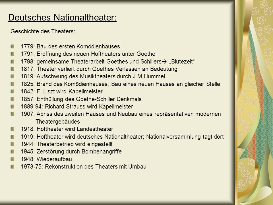 Deutsches Nationaltheater: