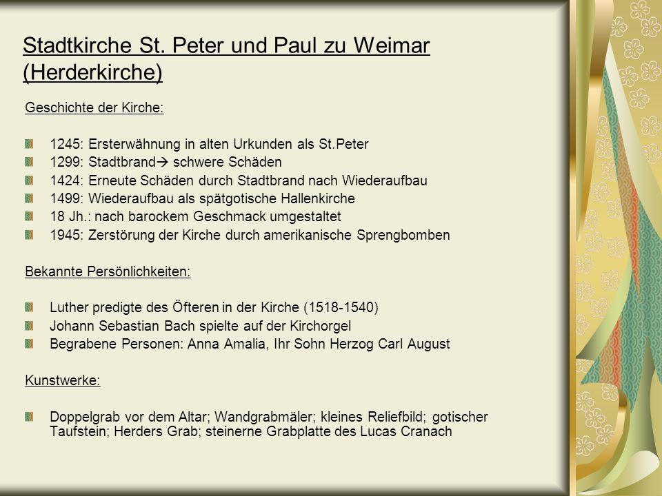 Stadtkirche St. Peter und Paul zu Weimar (Herderkirche)