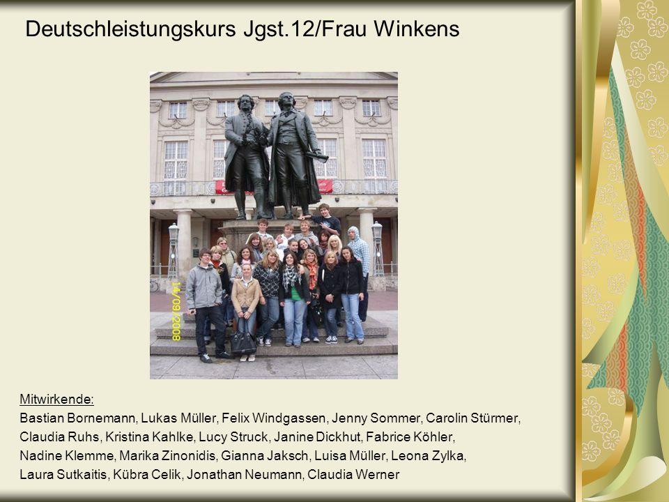 Deutschleistungskurs Jgst.12/Frau Winkens