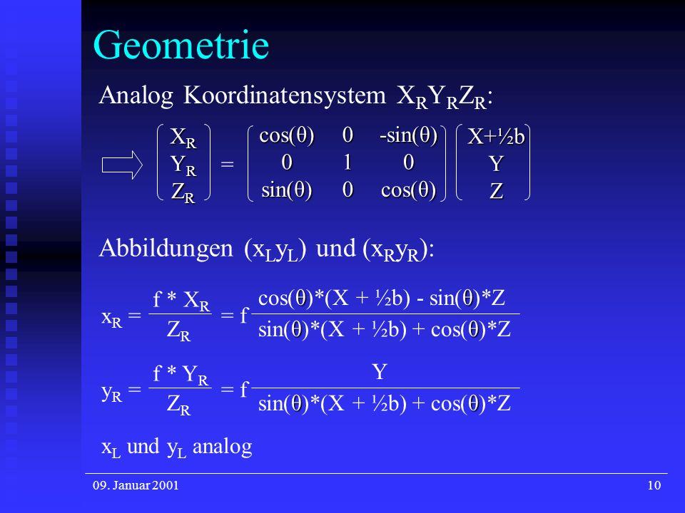 Geometrie Analog Koordinatensystem XRYRZR: