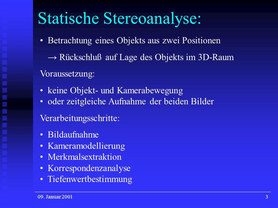 Statische Stereoanalyse: