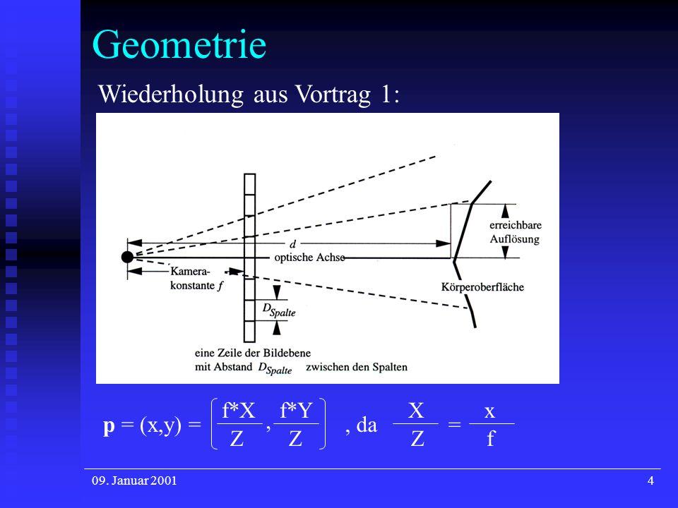 Geometrie Wiederholung aus Vortrag 1: f*X f*Y X x p = (x,y) = , , da =