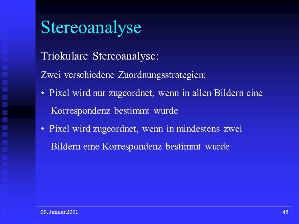 Stereoanalyse Triokulare Stereoanalyse: