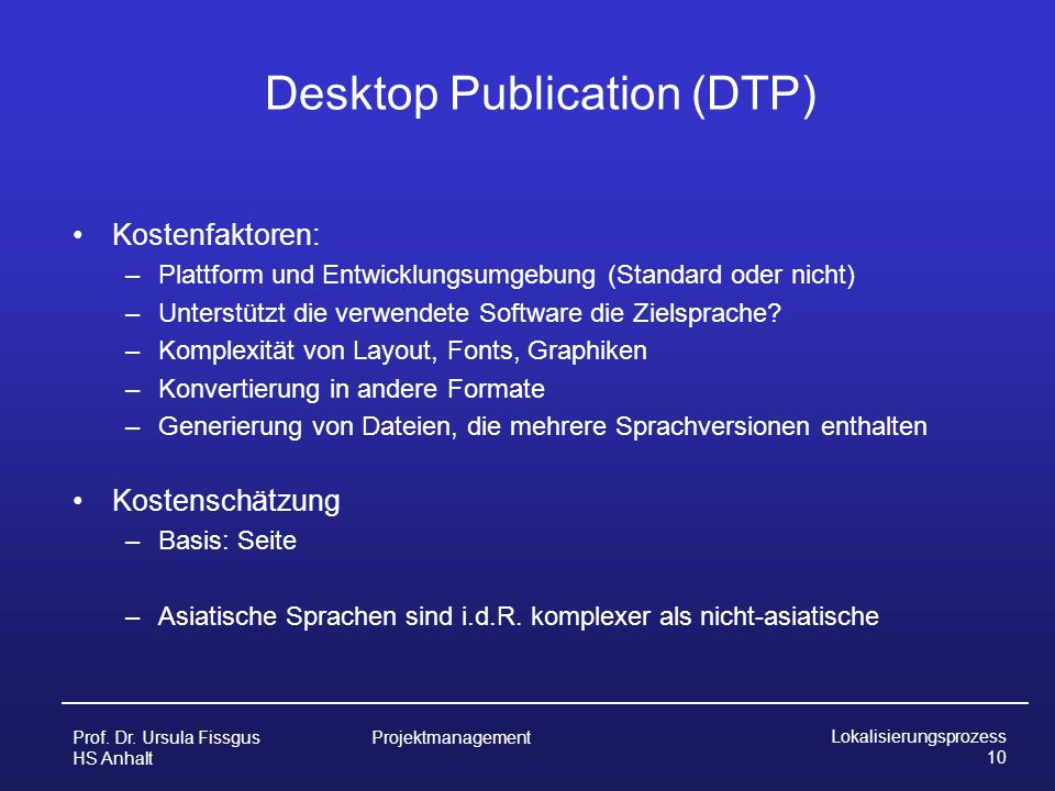 Desktop Publication (DTP)