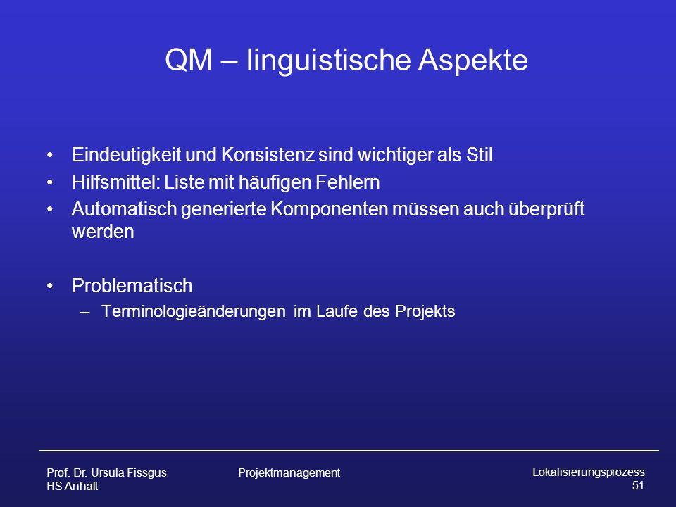 QM – linguistische Aspekte