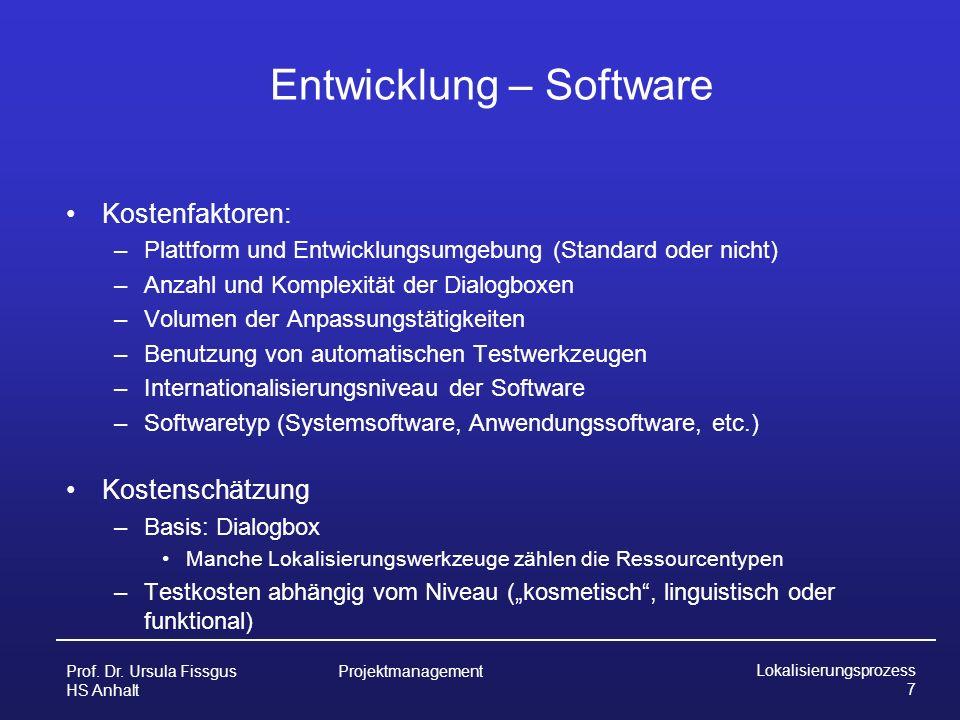 Entwicklung – Software