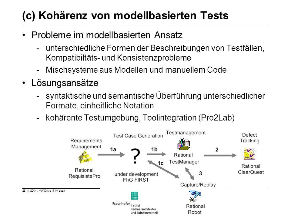 (c) Kohärenz von modellbasierten Tests