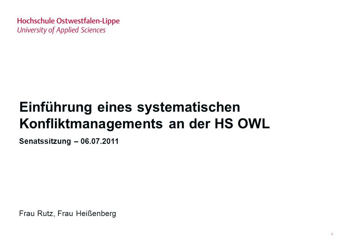 Einführung eines systematischen Konfliktmanagements an der HS OWL