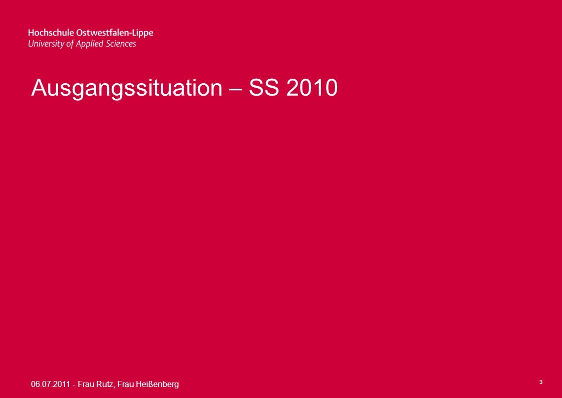 Ausgangssituation – SS 2010
