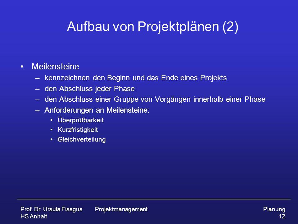 Aufbau von Projektplänen (2)