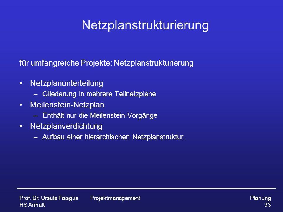 Netzplanstrukturierung
