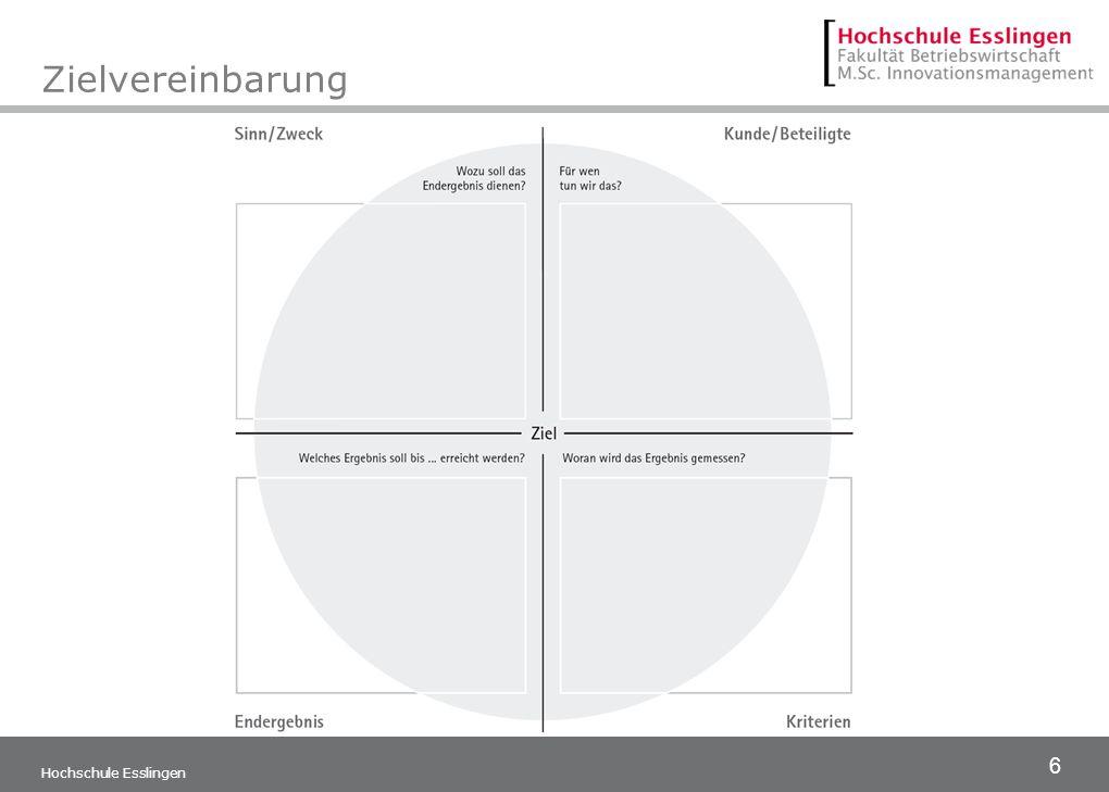 Zielvereinbarung Hochschule Esslingen