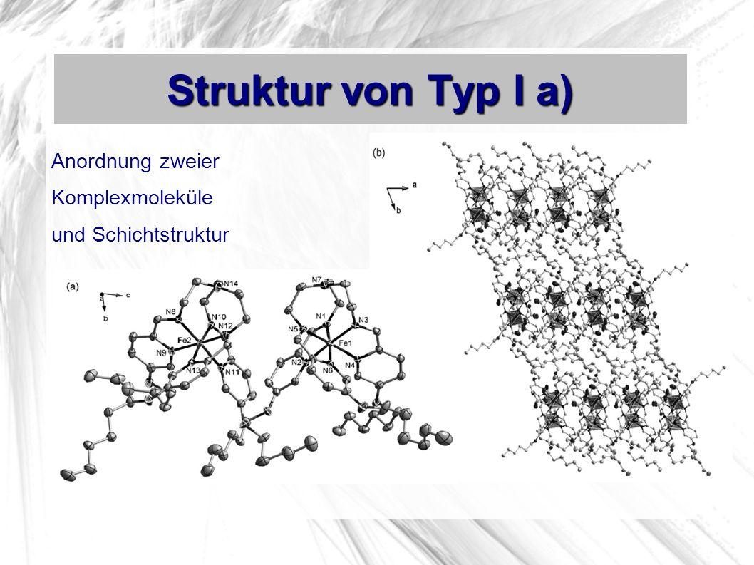 Struktur von Typ I a) Anordnung zweier Komplexmoleküle