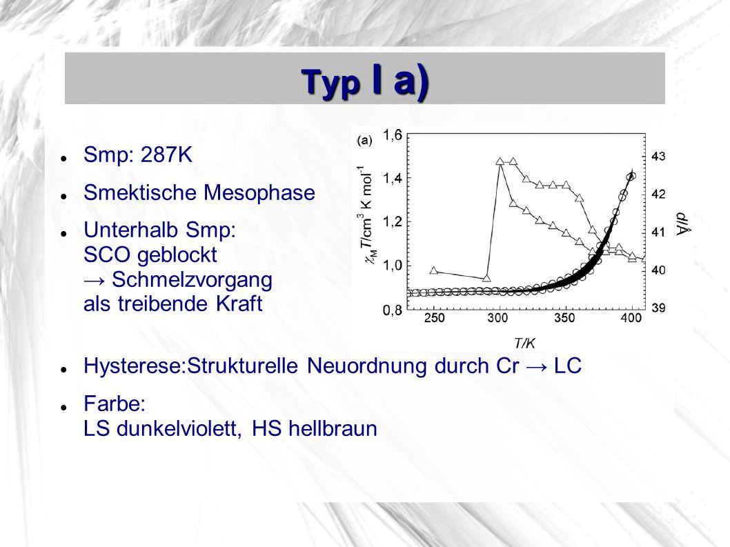 Typ I a) Smp: 287K Smektische Mesophase