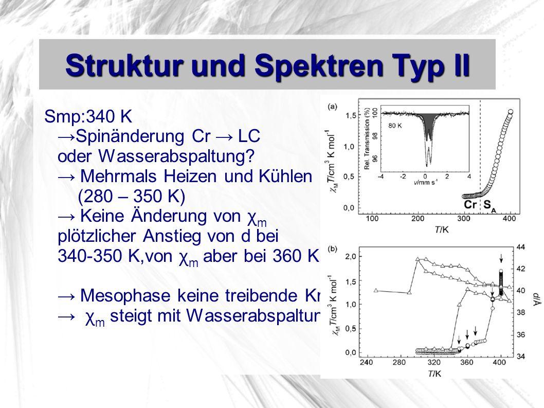 Struktur und Spektren Typ II