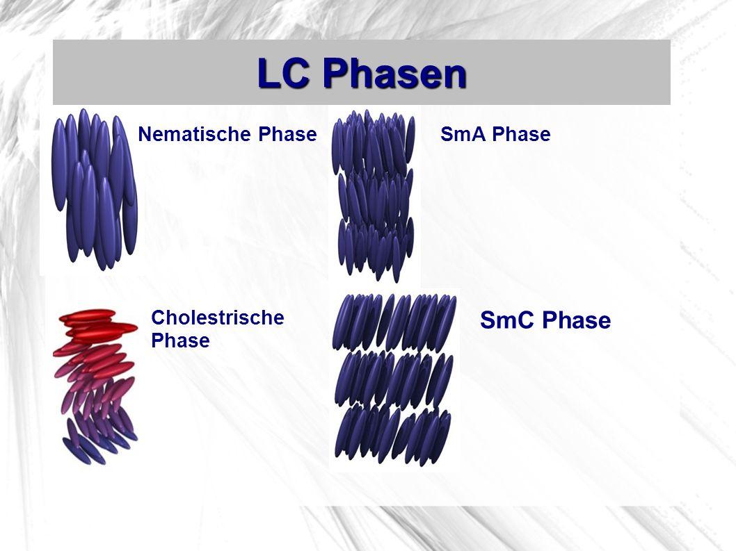 LC Phasen Nematische Phase SmA Phase Cholestrische Phase SmC Phase