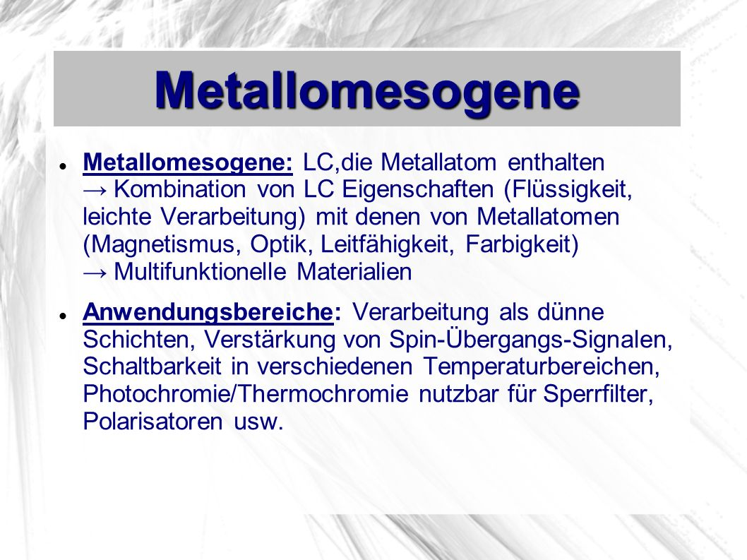 Metallomesogene
