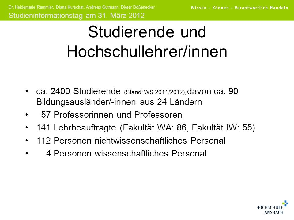 Studierende und Hochschullehrer/innen