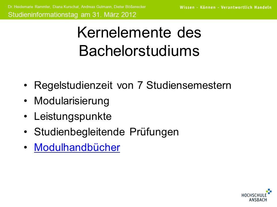 Kernelemente des Bachelorstudiums