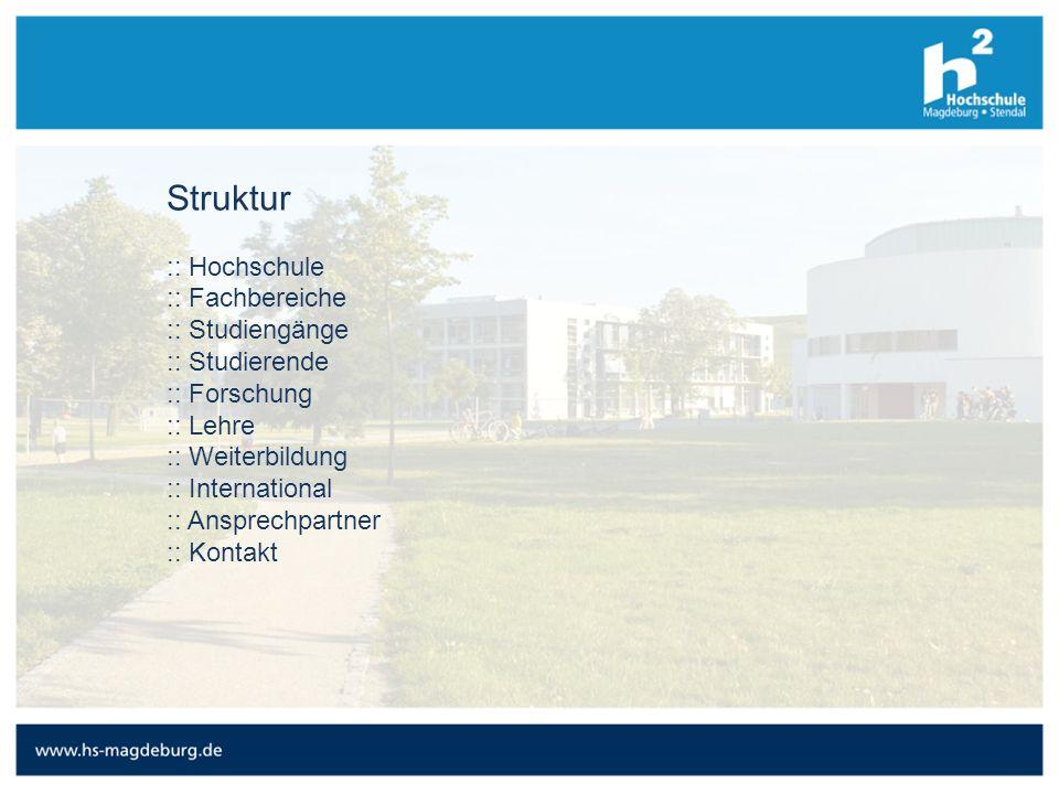 Struktur :: Hochschule :: Fachbereiche :: Studiengänge :: Studierende