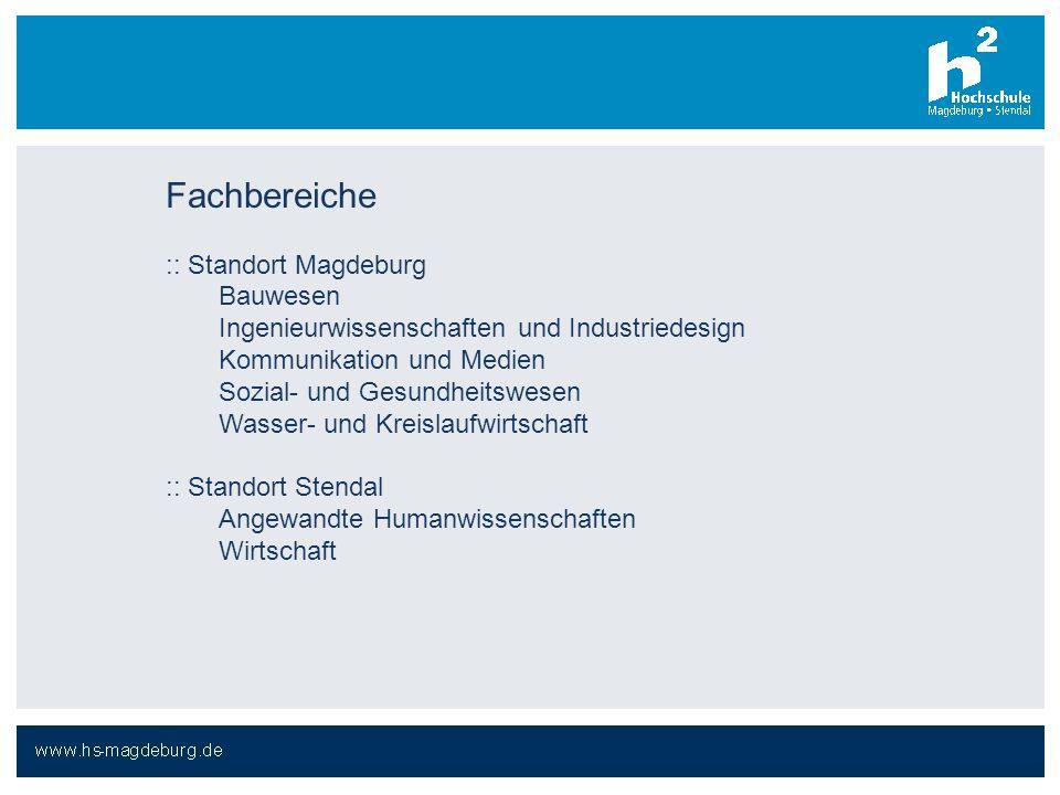 Fachbereiche :: Standort Magdeburg Bauwesen