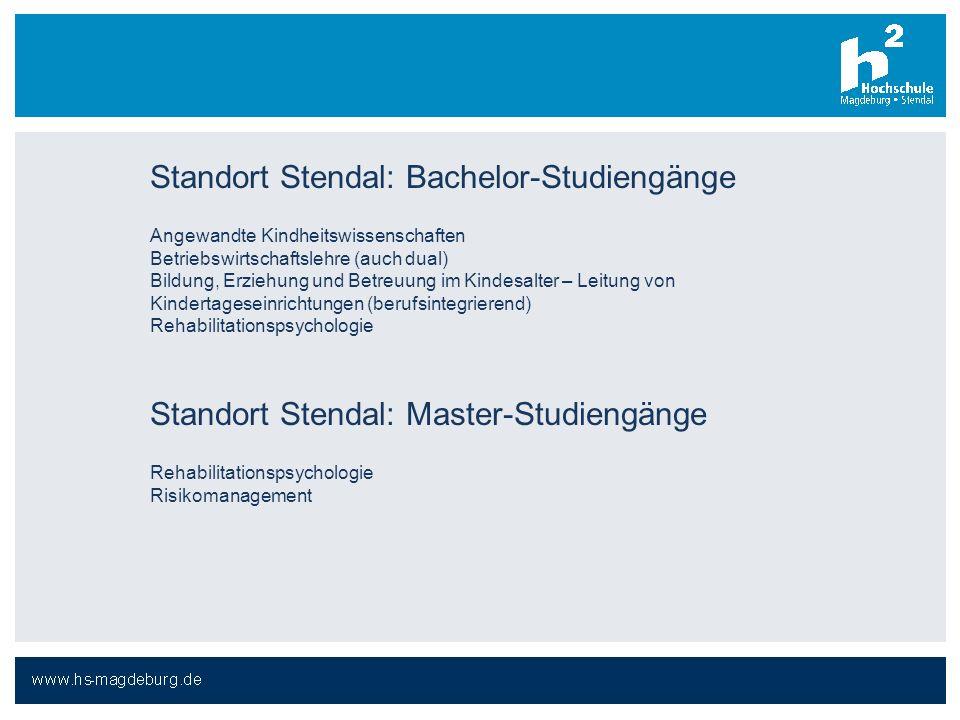 Standort Stendal: Bachelor-Studiengänge
