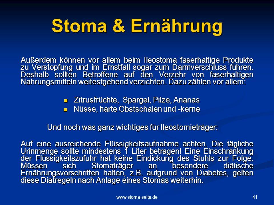 Stoma & Ernährung