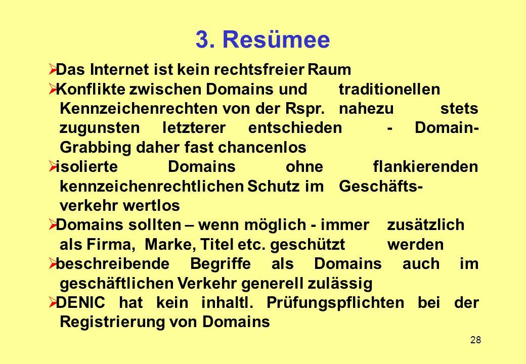 3. Resümee Das Internet ist kein rechtsfreier Raum