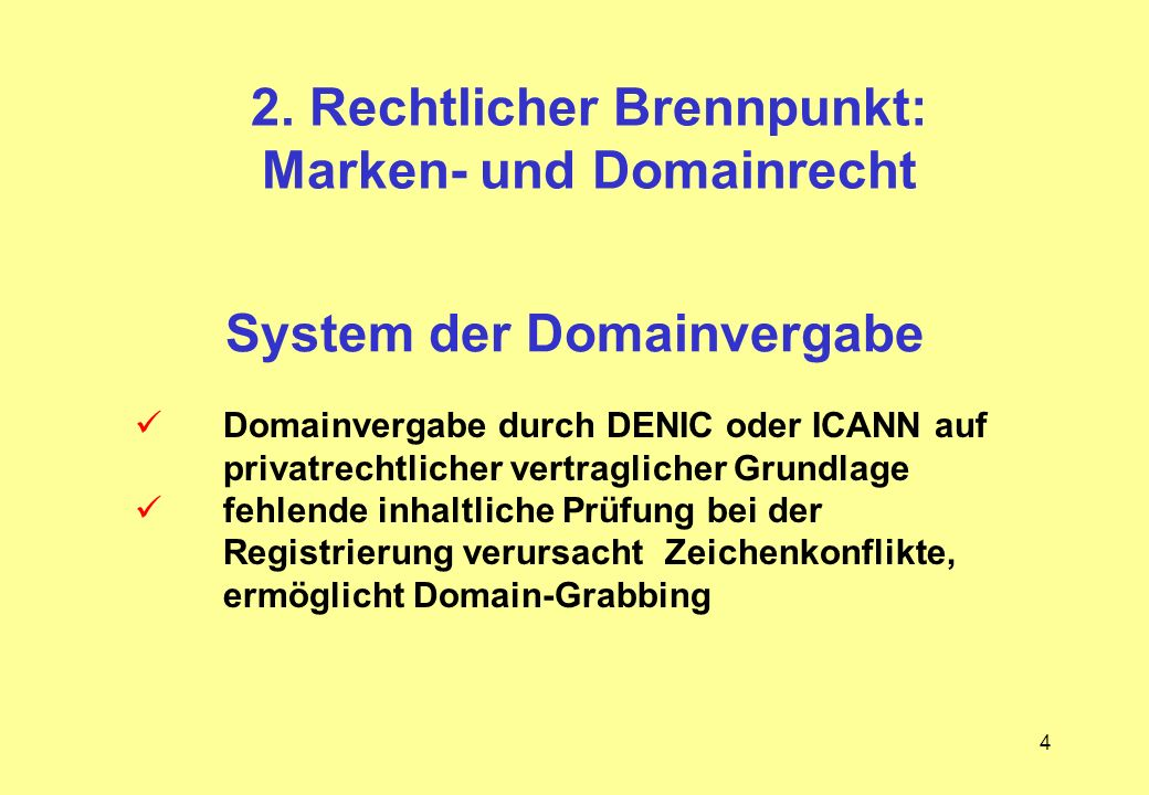 System der Domainvergabe