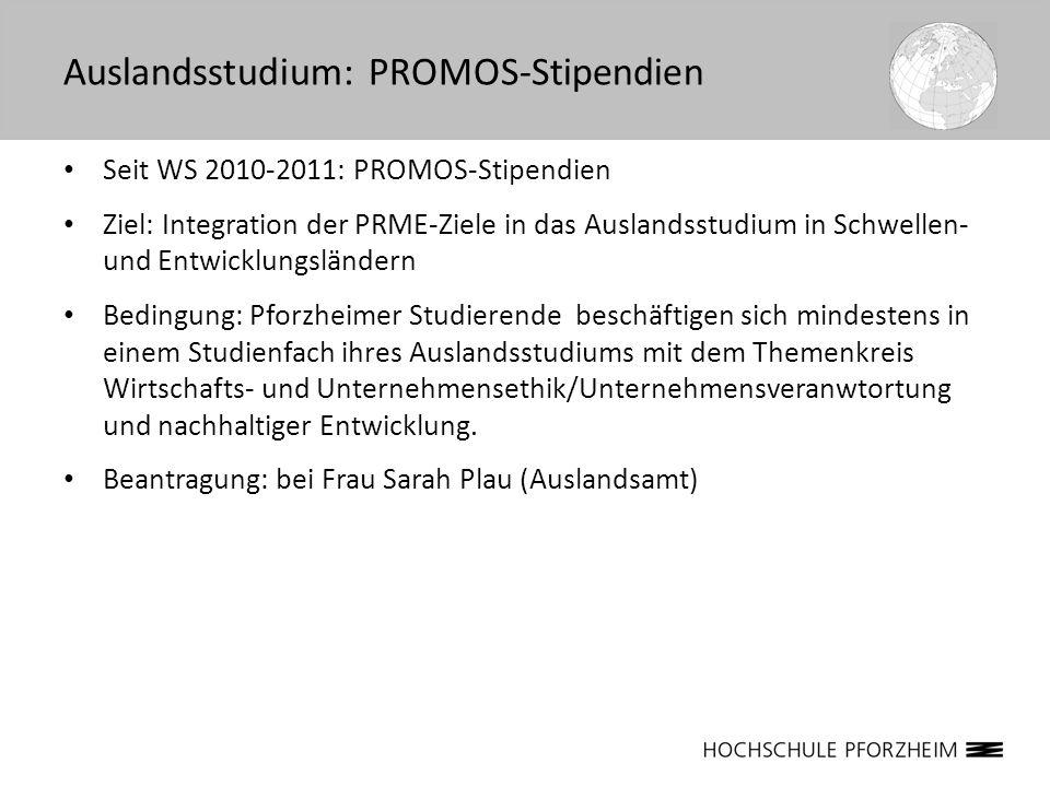Auslandsstudium: PROMOS-Stipendien